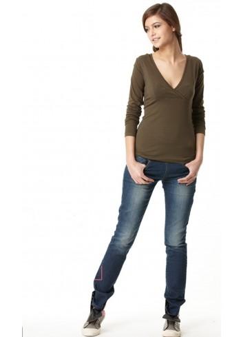 AMY tričko na dojčenie dlhý rukáv zelené