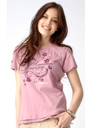 GIZELLE kojící bavlněné tričko Pink